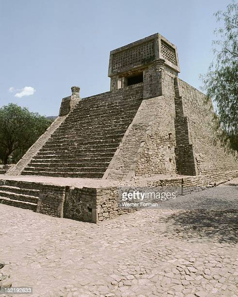 Small Aztec period temple pyramid known as Santa Cecilia Acatitlan The only pyramid of this type to have been fully restored Although situated near...