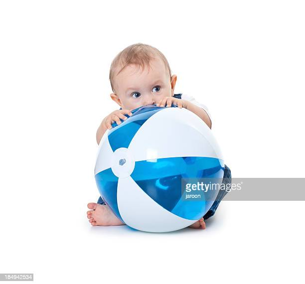 small baby with ball