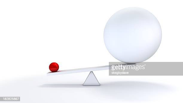small ball out balance. - man made stock pictures, royalty-free photos & images