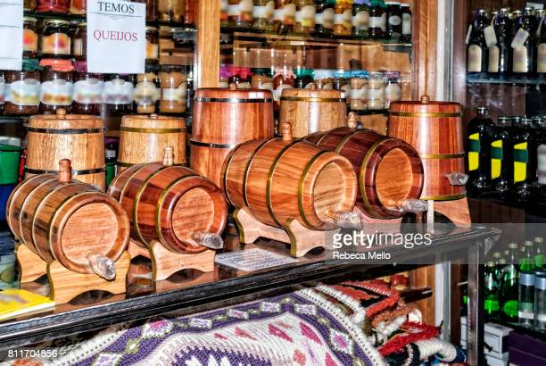 Small barrels of cachaça