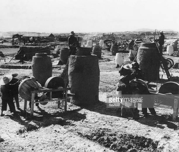 Small blast furnaces in hunan province china great leap forward 1950s