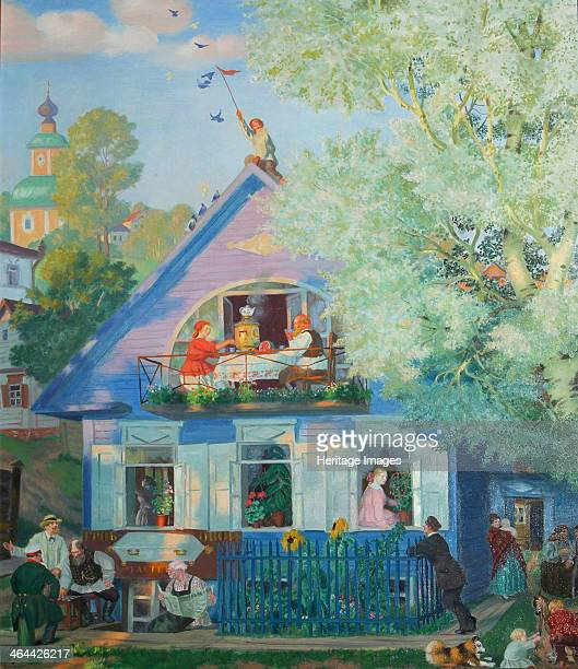 Small Blue House 1920 Found in the collection of the State A Radishchev Art Museum Saratov
