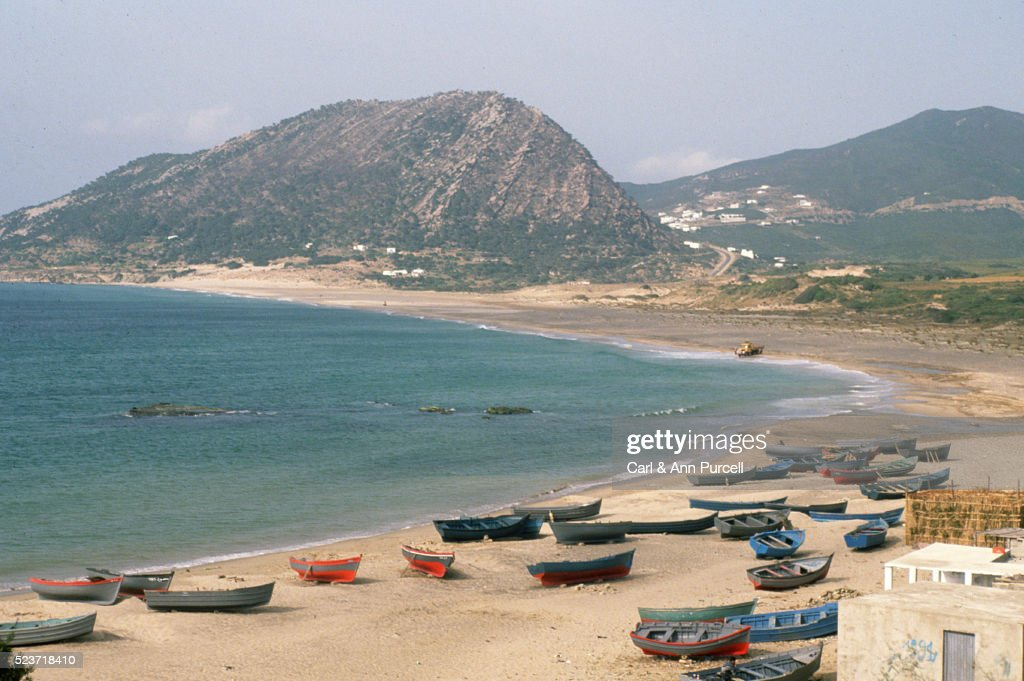 Small Boats on the Beach : Stock Photo