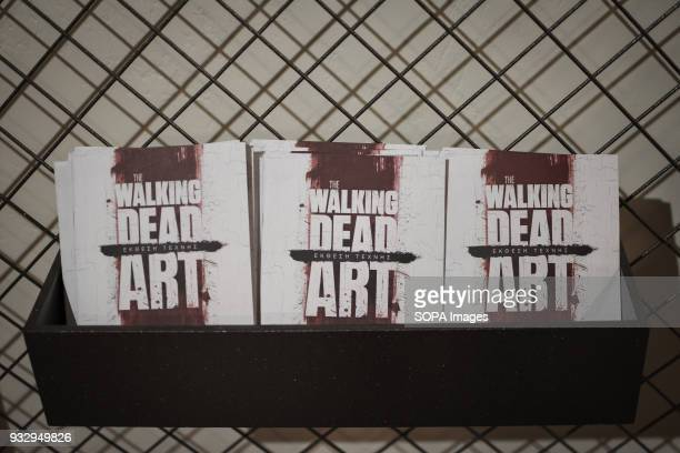 Small books at the entrance seen at the exhibition 54 artists are inspired by The Walking Dead and they present their own perspective in the...