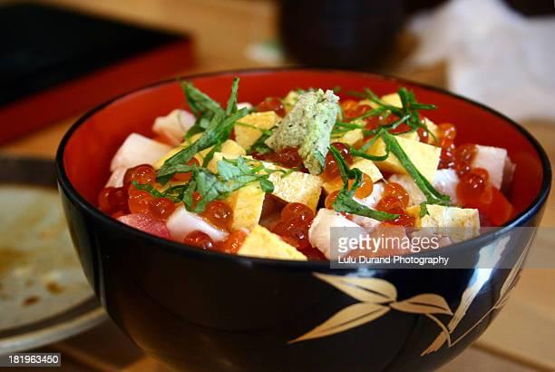 Small bowl of chirashizushi