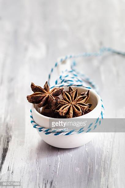 Small bowl of star anise