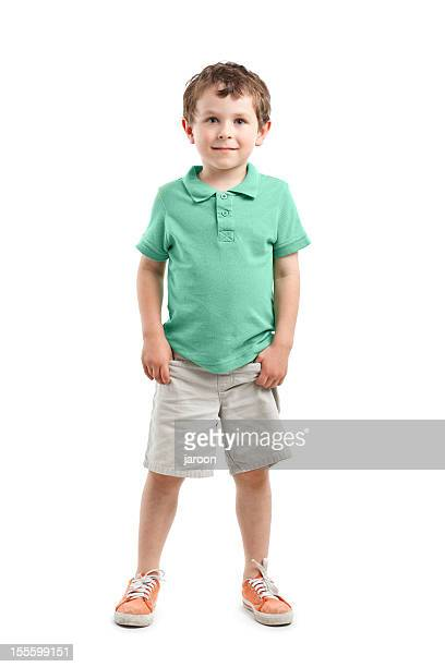 small boy - green shorts stock photos and pictures