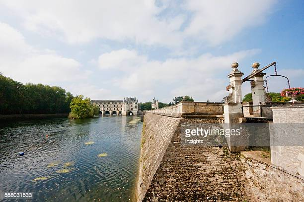 Small Bridge Over A Canal By The Chateau De Chenonceau On The River Cher Chenonceau IndreEtLoire France