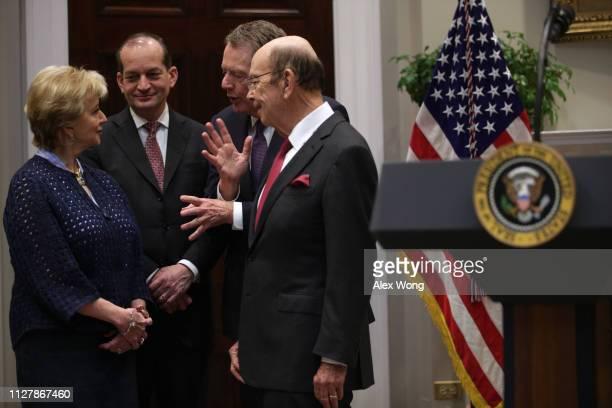 Small Business Administration Administrator Linda McMahon, U.S. Secretary of Labor Alex Acosta, U.S. Trade Representative Robert Lighthizer, and U.S....