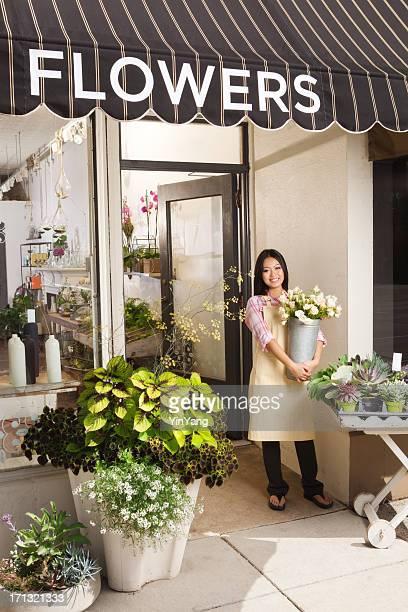 Empresário Florista pequena empresa Flor a loja proprietário Vt