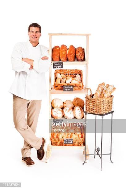 Petite entreprise propriétaire de la boulangerie Baker sur fond blanc