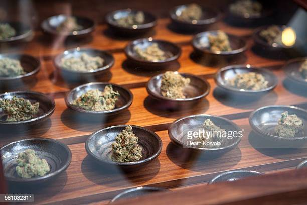 small business marijuana dispensary in oregon. - marijuana stock photos and pictures