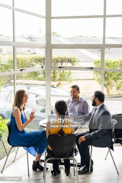 small business meeting. - nazar abbas photography stock pictures, royalty-free photos & images
