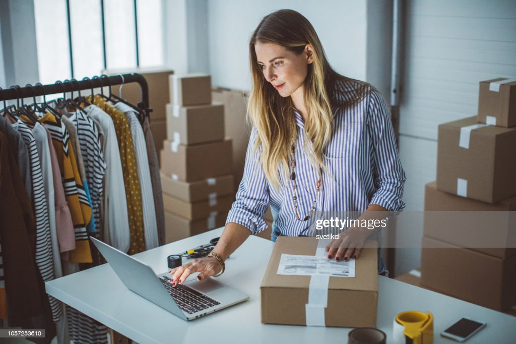 Small business owener : Stock Photo