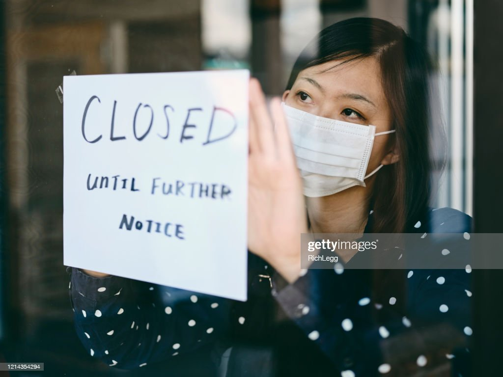 Small Business Owner Affected by COVID-19 : Stock Photo