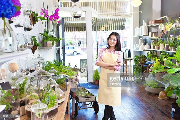 Small Business Owner Florist in Her Flower Shop