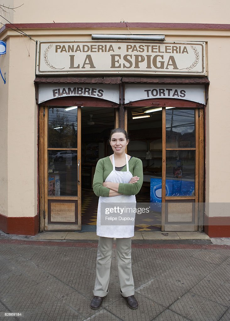 Small business owner in Santiago, Chile : Stock Photo