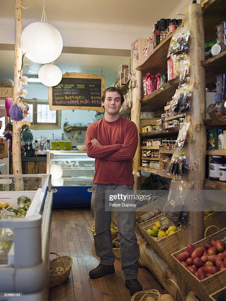 Pequeños negocios dueño en Santiago de Chile : Foto de stock