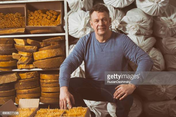 Small business owner of beeswax and candles production.
