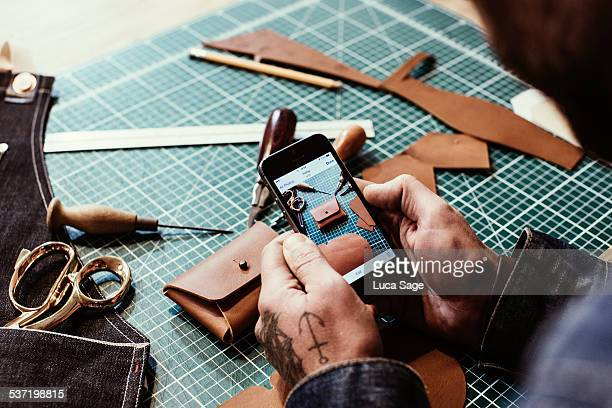 small business owner reviews photos of products - craft stock pictures, royalty-free photos & images