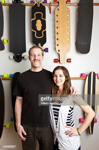Small business owners of Longboards skate shop