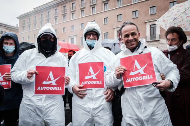 ITA: IoApro Protest Against Covid-19 Restrictions In Italy