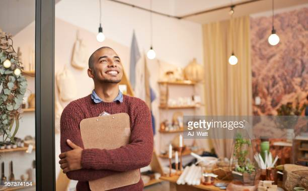 small business success sure feels good - boutique stock pictures, royalty-free photos & images