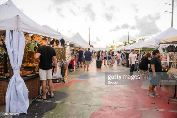 small businesses in market tents wynwood miami - pop up store stock pictures, royalty-free photos & images