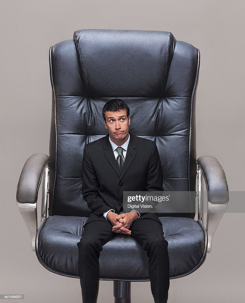 Wondrous Small Businessman Sitting In A Big Office Chair High Res Ibusinesslaw Wood Chair Design Ideas Ibusinesslaworg