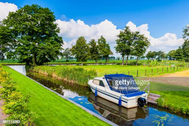 Small Canal in Giethoorn Netherlands