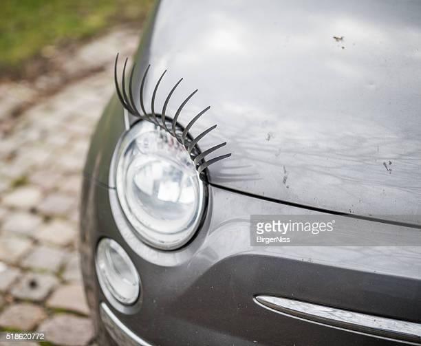 Kleines Auto mit langen Wimpern, Kopenhagen, Dänemark