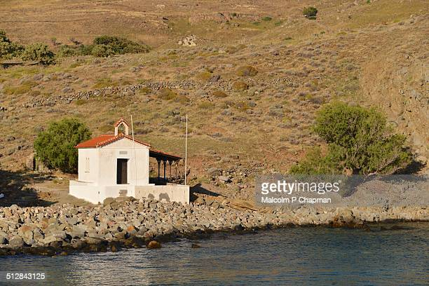 Small chapel by the sea, Eressos, Lesvos, Greece