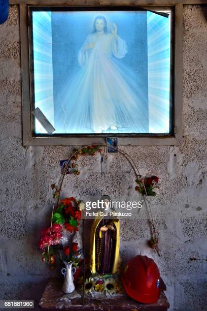 A small chapel near Oficina Alemania, in Atacama Region, Northern Chile