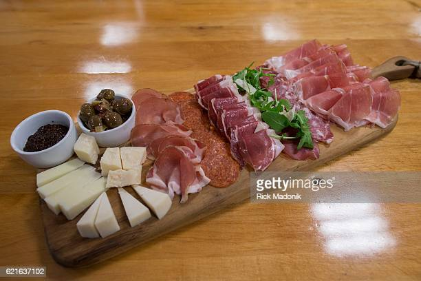 A small charcuterie board with all the dressings Chef Gabriele Paganelli at his North York location of Speducci Mercatto The establishment is a...