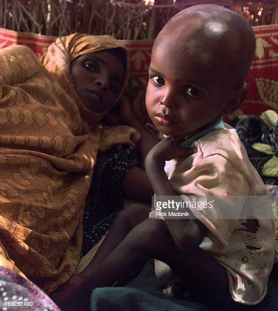 Small child and his mother in the treatment centre in Gode, Ethiopia. This south eastern part of the country is currently undergoing the most...