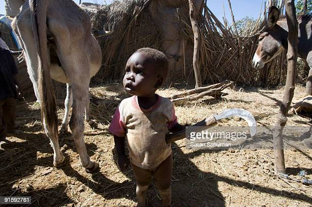 NERTITI DARFUR SUDAN OCTOBER 29 2008 A small child in Nertiti North IDP camp A GoS soldier was shot and injured in the IDP camp on October 10 and had...
