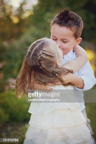 small children kissing stock photo getty images - Small Children Images