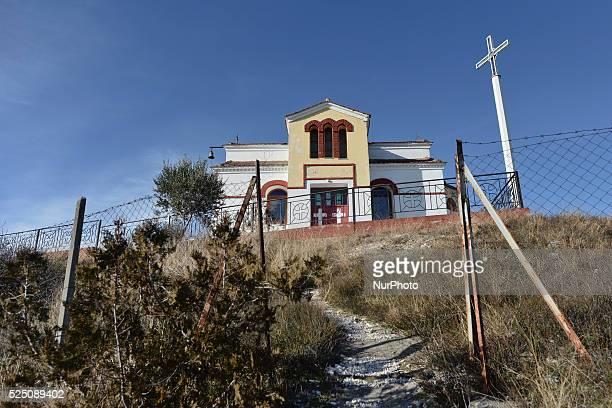 Small Church at the top of the hill near the Interallied Memorial . Polykastro, Kilkis, Macedonia region, Greece. On Saturday, January 9, 2016