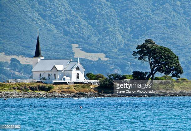 small church by sea - eastern cape stock pictures, royalty-free photos & images