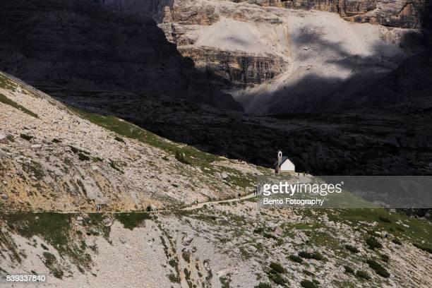 Small church near Tre cime, Dolomite, Italy