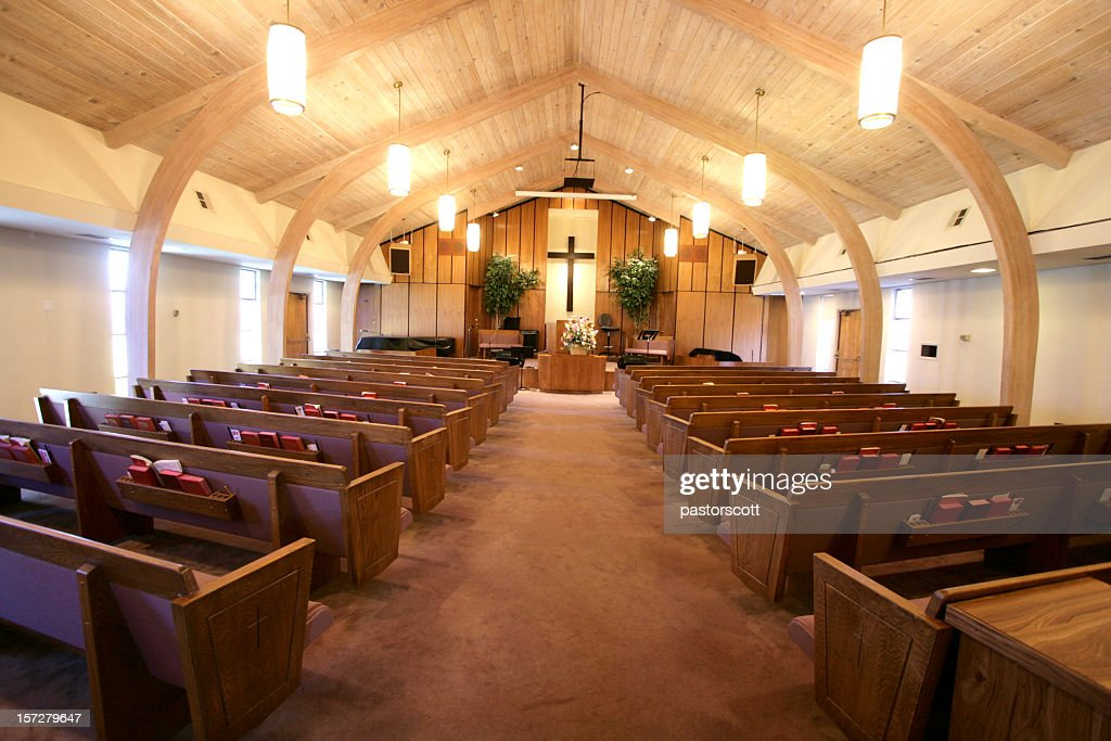 Small Church Sanctuary Stock Photo Getty Images