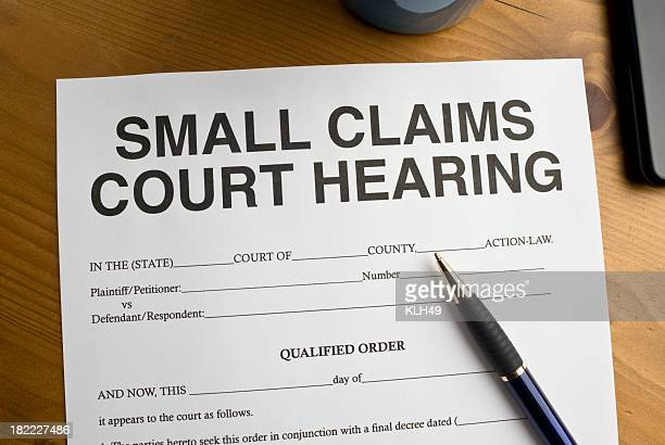 small claims court hearing document - courthouse stock pictures, royalty-free photos & images