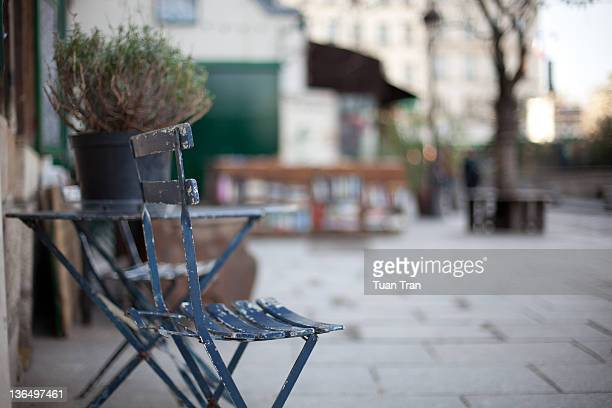 Small coffee chair outdoor, Paris, France