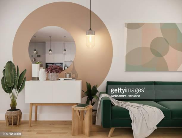 sala de estar pequena e colorida - decoration - fotografias e filmes do acervo