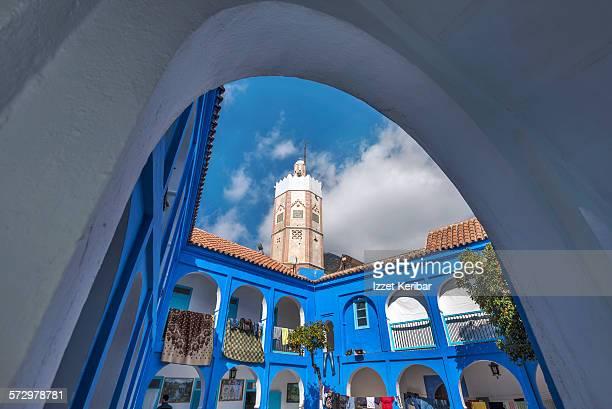 Small colorful streets in Medina of Chefchaouen