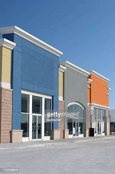 Small Colorful Strip Mall Stores