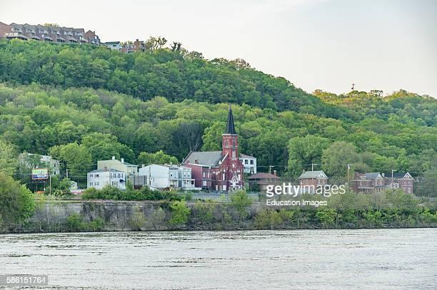 Small community on the bank of the Ohio River near Cincinnati.