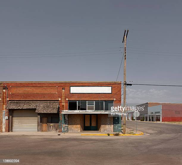 small country town street scene - abandoned stock pictures, royalty-free photos & images
