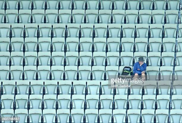 A small crowd watches on during day four of the Second Test match between Australia and the West Indies at Melbourne Cricket Ground on December 29...