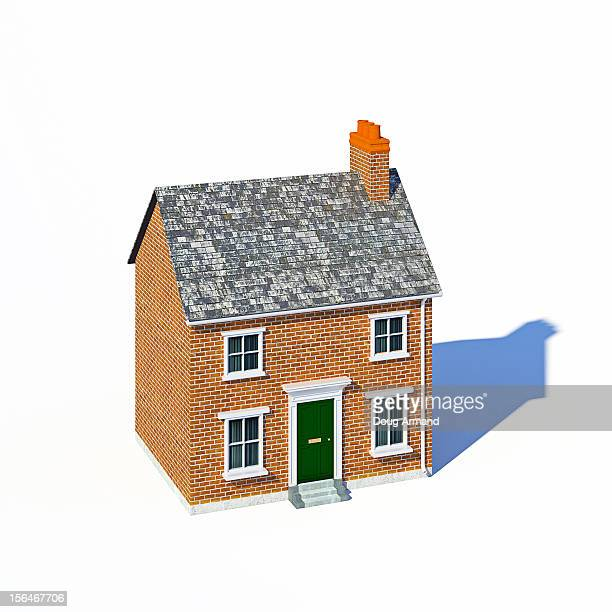 Small detached house on white